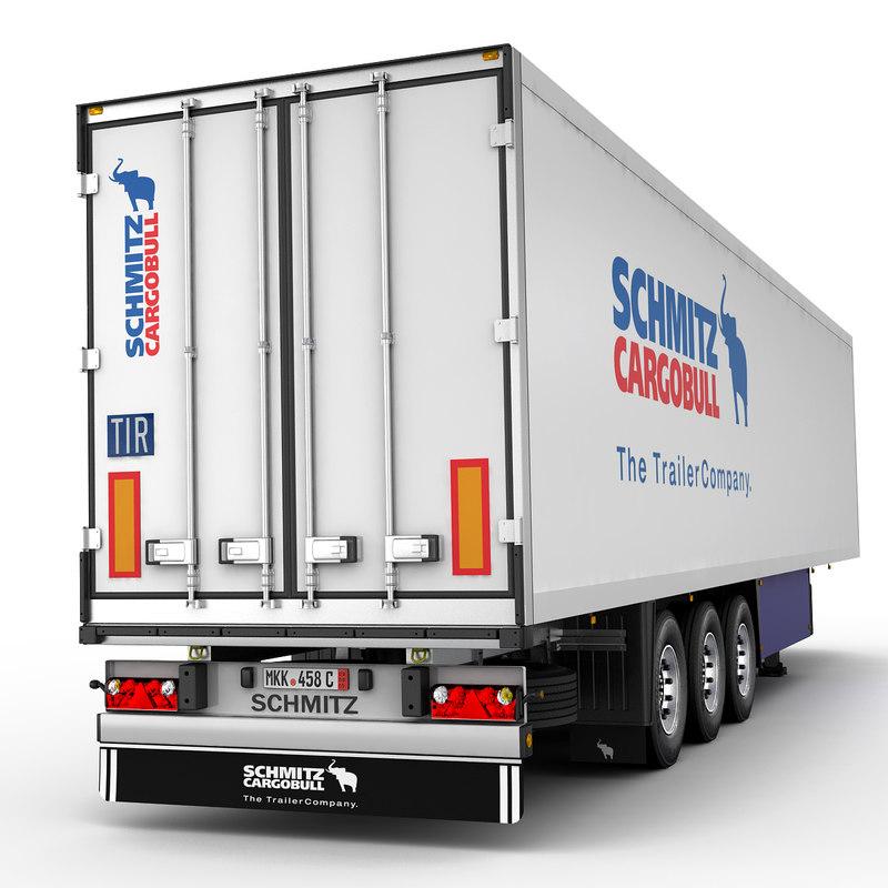 3d model semi trailer schmitz