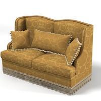 classic sofa pillows 3d fbx
