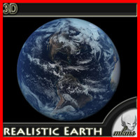 earth realistic 3d max