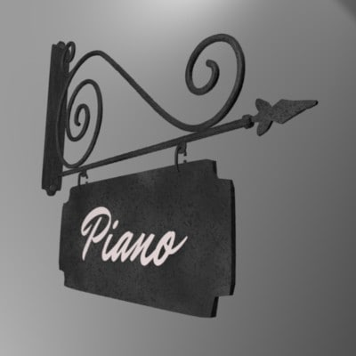 3d model enseigne piano