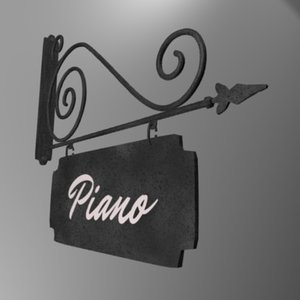 3d model enseigne piano