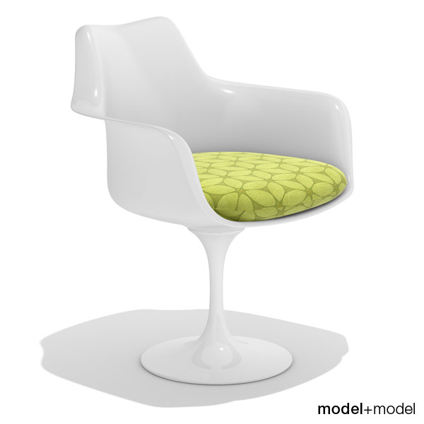 3ds max tulip armchair knoll chairs