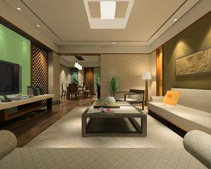 3d interior design model