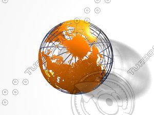 globe earth 3d obj