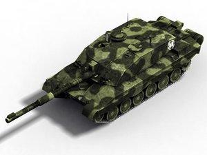 3d leopard 1a5 tank model