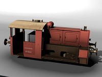 german switcher locomotive 3d lwo