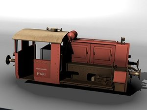 german switcher locomotive 3d lwo
