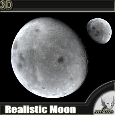 3ds max moon realistic planets