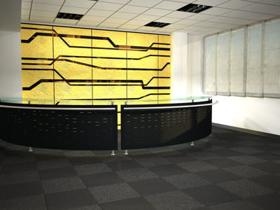 3d scene reception model