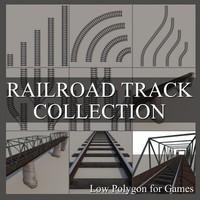 railroad track 3d model
