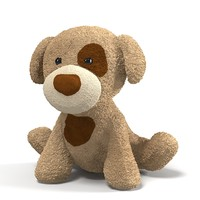 3ds max plush toy dog