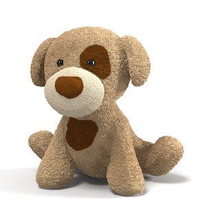 3ds max plush toy dog