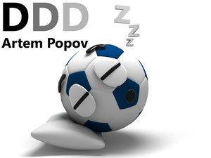 sleepy soccer ball 3d max