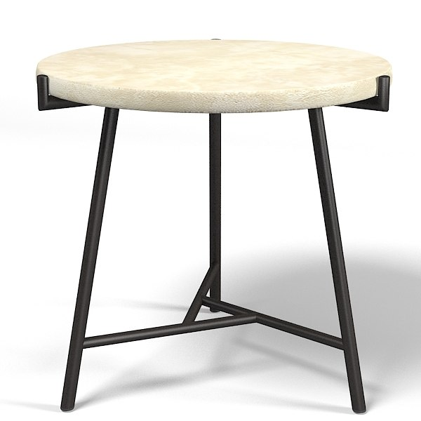 Mcguire Flint Side Table Barbara Barry 841s Round Stone Modern Coffee Side  Table Contemporary
