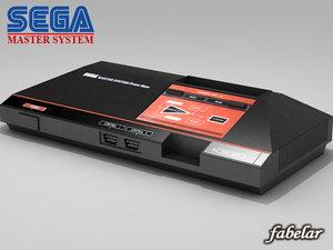 sega master console 3d max