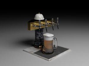 3d beer spill model