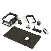3d model office desk set