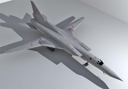 3d tupolev bomber model
