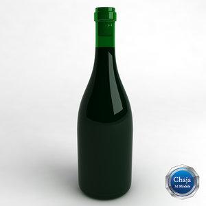 3ds max bottle wine