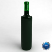 bottle wine 3d max