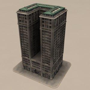 skyscraper new york obj