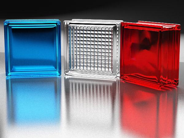 3d model glass blocks