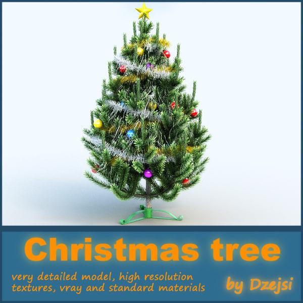 christmas tree 3d max