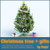 3ds max christmas tree gifts