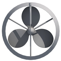 3d propeller prop model