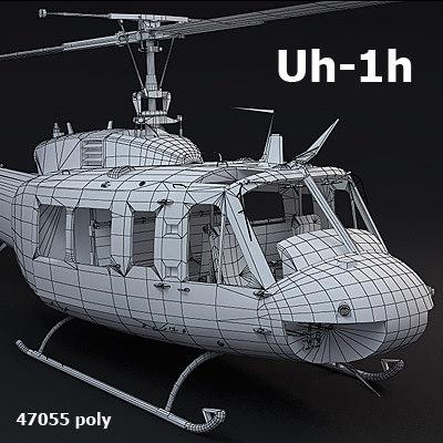 uh1h helicopter transport 3d obj