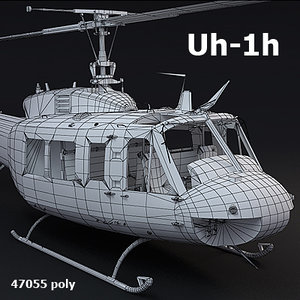uh1h helicopter transport 3d obj