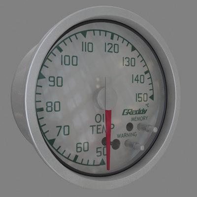 3d model oil temperature gauge