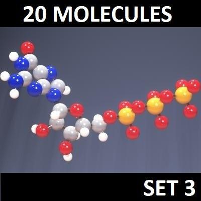 3d model 20 molecules