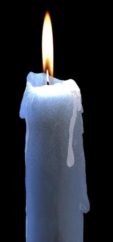 3d model blue candle