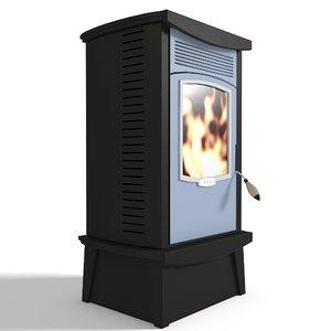free stove wood burning 3d model