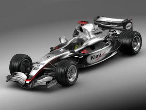 3d model f1 mclaren 2005