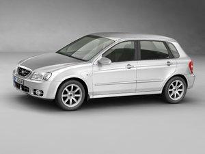 kia cerato city car 3d model