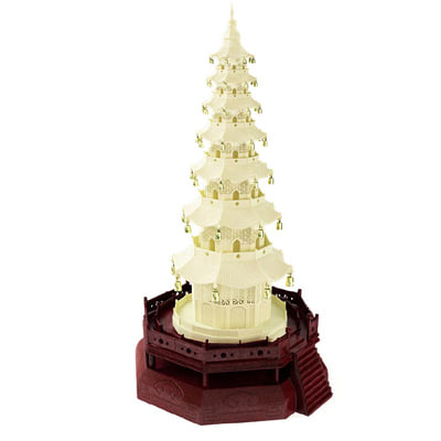 3d asian tower