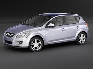 3d kia ceed 2007 model