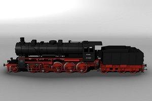 3dsmax steam locomotive br 58