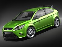focus rs 2009 3d model