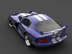 3d dodge viper coupe