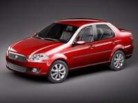 fiat new siena 2009 3d 3ds