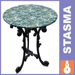 3d model marble table
