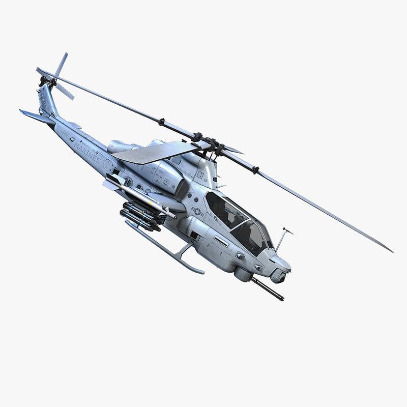 3d model ah - 1z viper