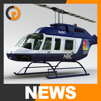 Helicopter - News Bell 206L with Interior