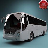 3d obj realistic bus hyundai universe