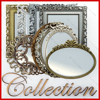 3d mirrors design gold model