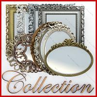 Colección de espejos en marcos.