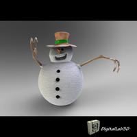 max snowman sculpture children
